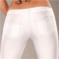 Sexy Treggings with back pockets in white Size: S